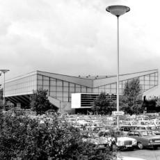 Blick von P1 auf die Grugahalle