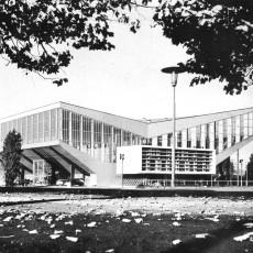 Die Grugahalle 1959, kurz nach ihrer Fertigstellung