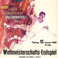 Weltmeisterschaftsendspiel im Hallenhandball 1968